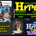 ANGEL CAMORRA'S HYPE IT UP REGGAE & DANCEHALL SHOW 8th SEPT 2013